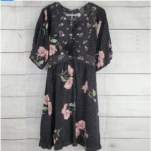 Xhilaration Mixed Print Dolman Dress